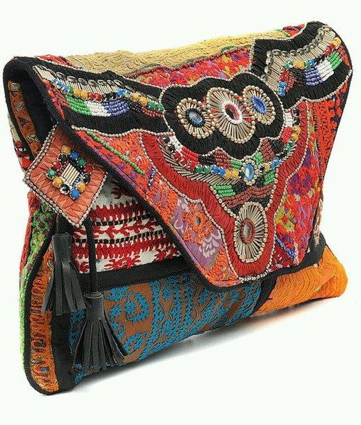 bag indie bag colorful red bag back bag print hippie things will get better orange