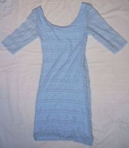 Pale / baby blue lace H&M bodycon dress - size 8 | eBay