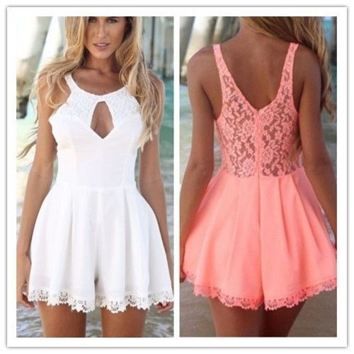 Hot Fashion Sexy Women Lace Playsuit Party Evening Summer Dress Jumpsuit Shorts   eBay