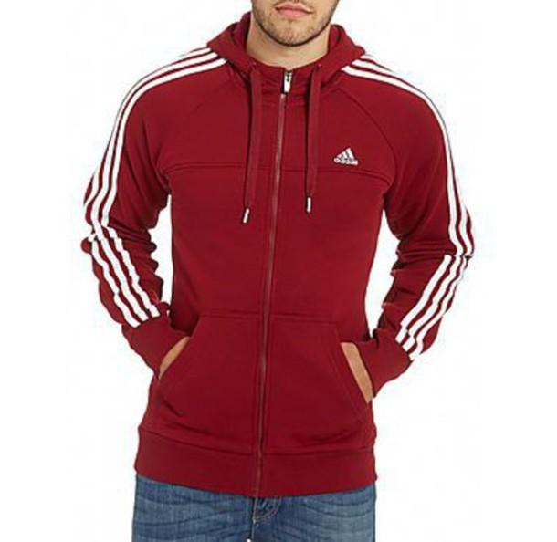 jacket cardinal adidas hoodie white