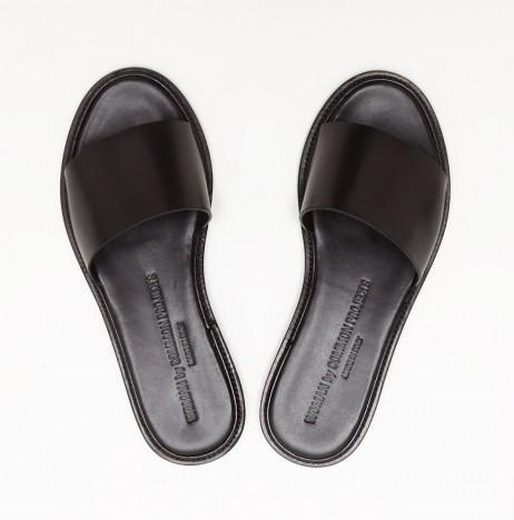 Common Projects Slide Sandal in Black   The Dreslyn