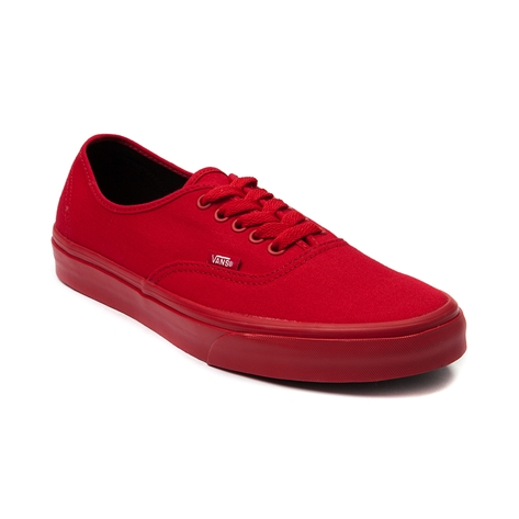 Vans Authentic Skate Shoe, Red Mono   Journeys Shoes