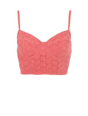 Influence Coral Crochet Bralet