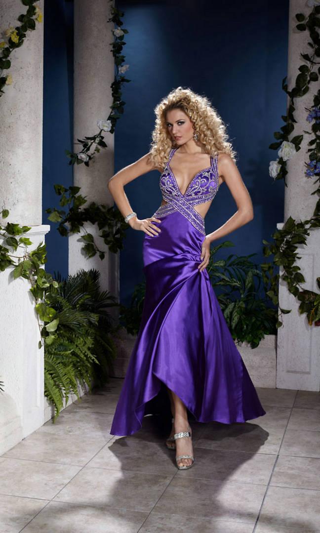 Buy Beaded One Shoulder Ruffled Skirt Floor Length One Wide Strap Royal Pageant Dress Online