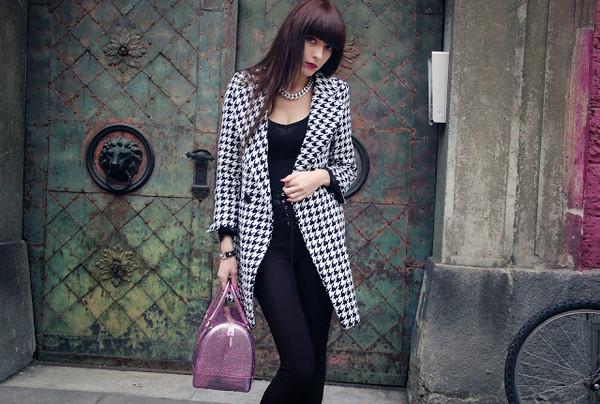 carolina krews coat pants jewels nail polish bag