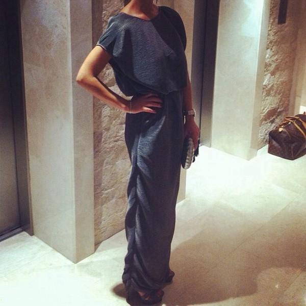 dress grey rouched maxi dress grey dress