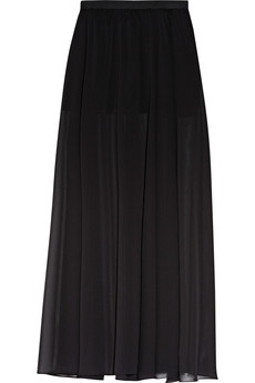 ENZA COSTA Chiffon maxi skirt - 57% Off Now at THE OUTNET