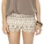 Love Seat Ivory Lace Shorts