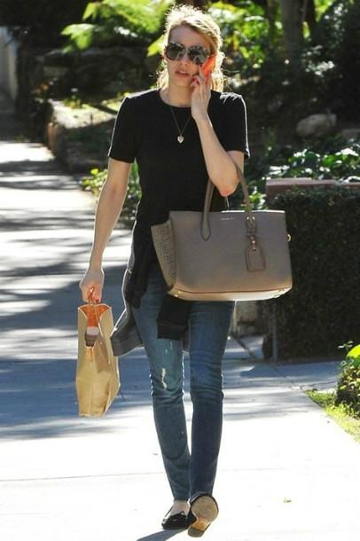 jeans emma roberts streetstyle