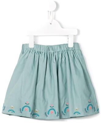 skirt girl toddler blue