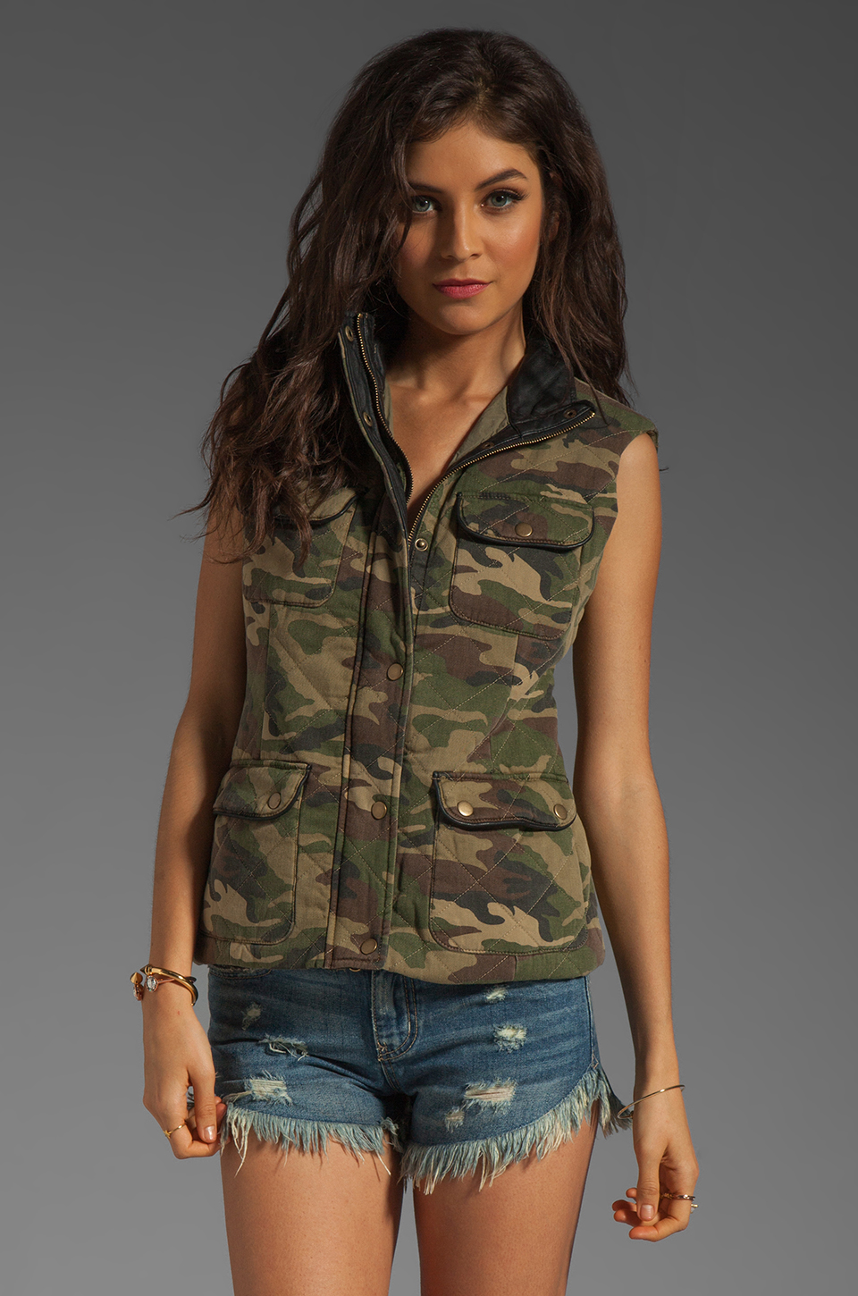 Capulet Quilted Vest in Camouflage | REVOLVE