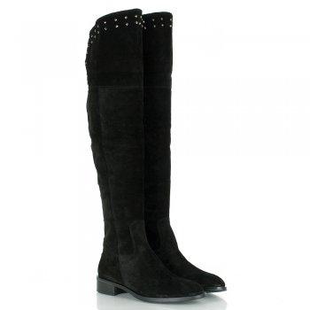 Daniel Lamar Suede Black Over Knee Boots