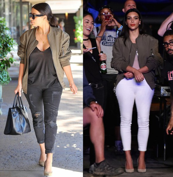 Jacket kim kardashian bomber jacket fashion fall for Salle de bain kim kardashian