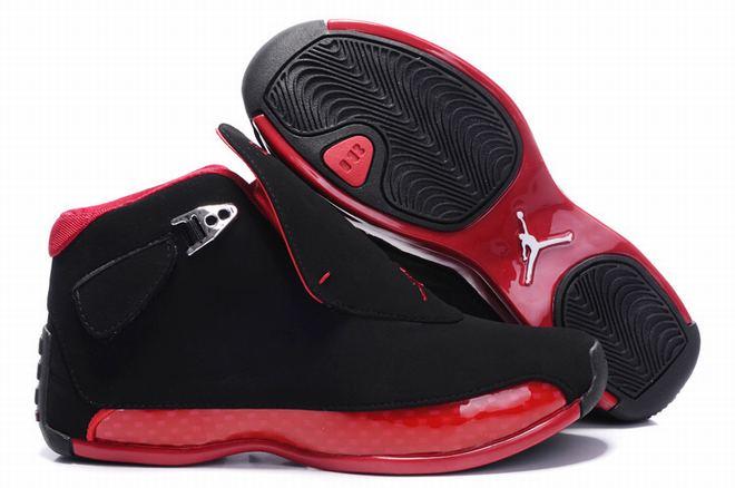 buy jordan 18 black red for women