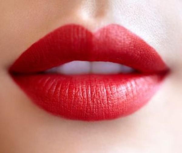 nail polish colorful red lips lipstick red lipstick