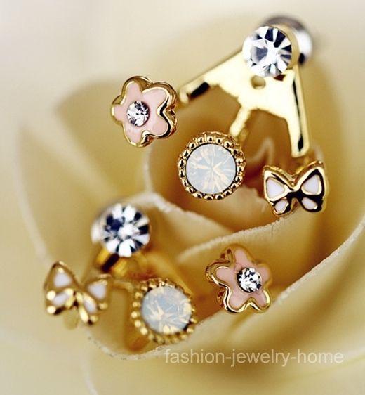 A Pair Korean Style Lovely Flower Earrings Stud Earring | eBay