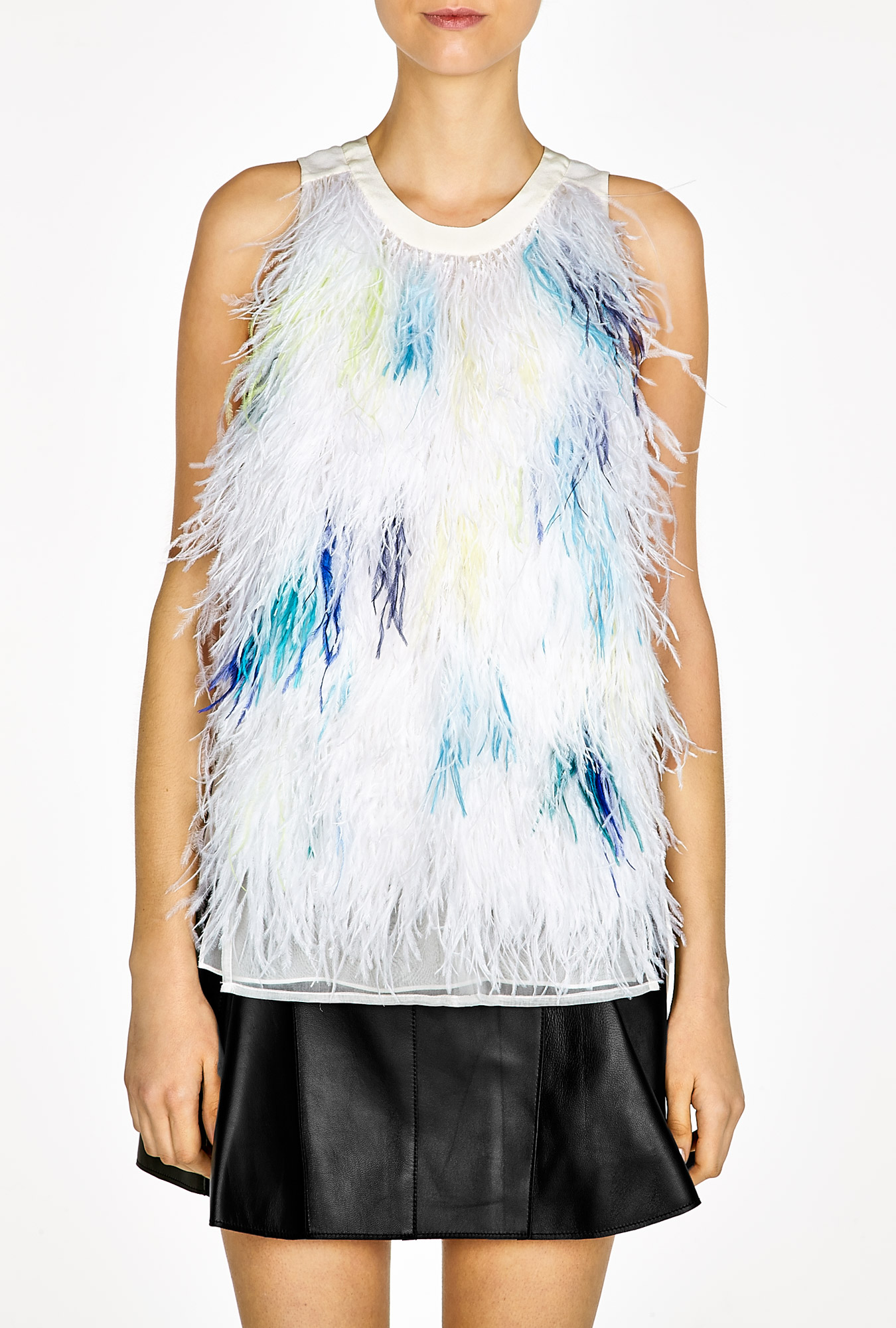 3.1 Phillip Lim  | Ostrich Feathers Tank Top by 3.1 Phillip Lim