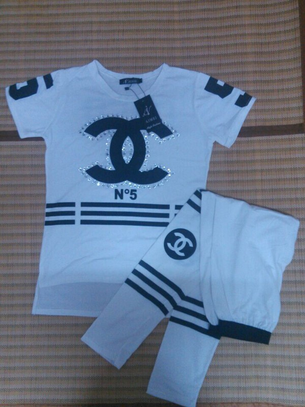 t-shirt chanel set coco  chanel suit chanel sport suit