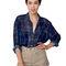 plaid chiffon oversized button-up | shop american apparel