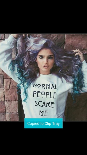 sweater normal normal people scare me