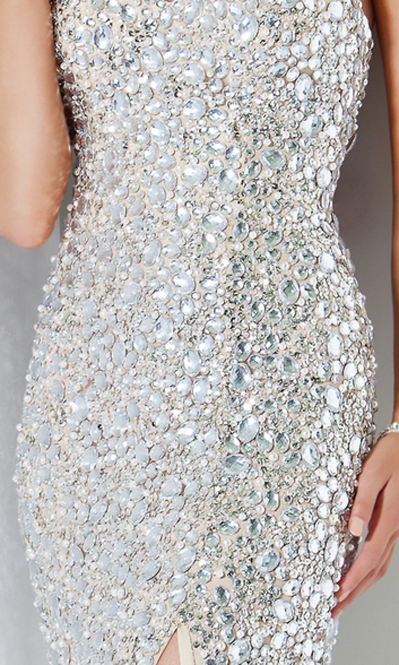 Silver Sequin Evening Gown by Jovani  4247_Prom Dresses_Dresses_Prom Dresses | Bridal dresses | Gowns - Smoosty