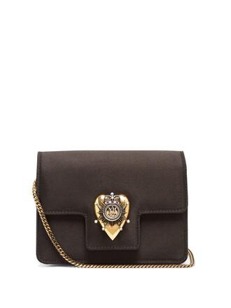heart mini bag shoulder bag satin black