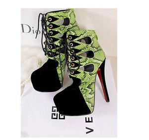 Pump Platform Heels Stiletto High Heels 14cm Celebrtiy Lace Up Shoes Ankle Boot | eBay