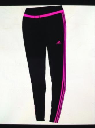 pants pink joggers neon adidas black drawstring women's