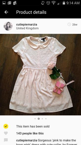 dress pink cute petite elegant bbg baby girl sweet pale pale grunge kawaii kawaii grunge soft grunge light pink soft pink pastem pastel pink pink dress