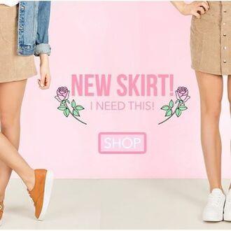 skirt yeah bunny latte corduroy retro mini corduroy fashion