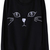 ROMWE | Cat Face Embroidery Black Pullover, The Latest Street Fashion