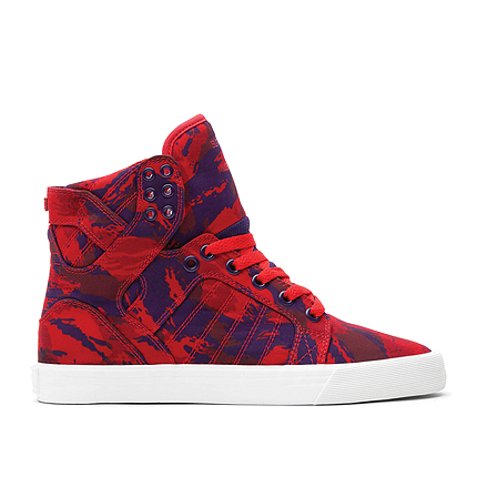 SUPRA Footwear™ | Official Store | WMNS SKYTOP | PARTY CAMO RED/GRAPE - WHITE