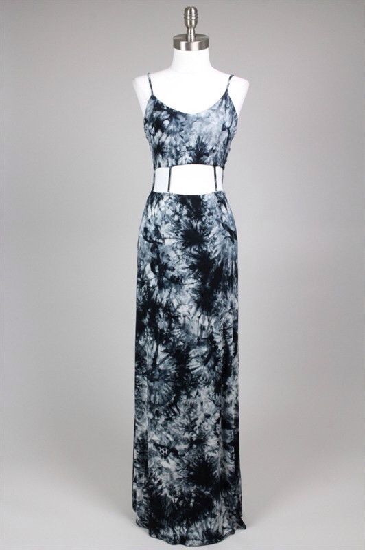 Nicole Cut Out Tie Dye Maxi Dress – Shop Compulsive
