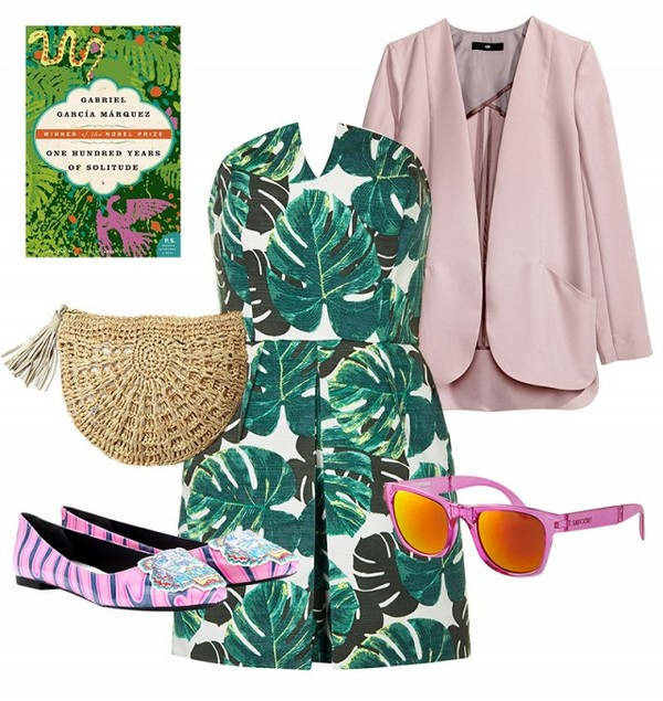 jacket dress sunglasses bag shoes