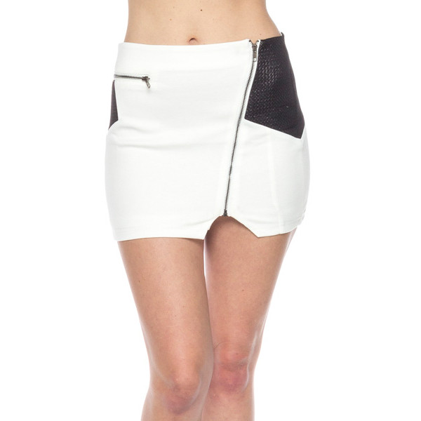 skirt twist mix black white mini zip makeup table vanity row dress to kill