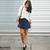 ROMWE   High Waist Dark Blue Denim Skirt, The Latest Street Fashion