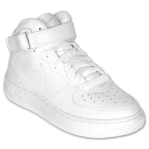 Boys' Gradeschool Nike Air Force 1 Mid  FinishLine.com   White