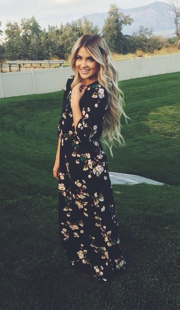 dress blonde hair smile outdoors