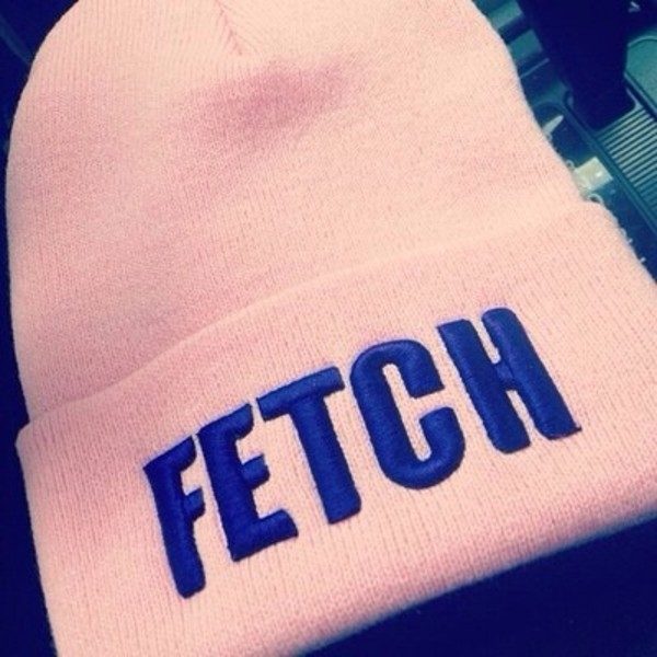 hat pink beanie fetch