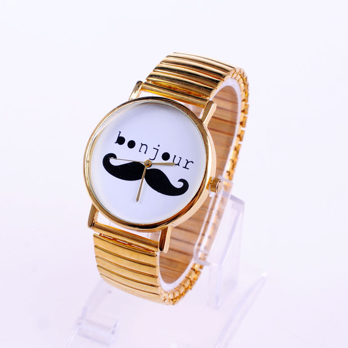 2013 New Arrival Fashion Unisex letters beard watches for women,high quality mustache bracelet watch Free Shipping C1269-in Wristwatches from Watches on Aliexpress.com