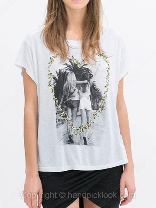t-shirt printed t-shirt printed t-shirt heart print top heart print blouse heart summer top summer t-shirt