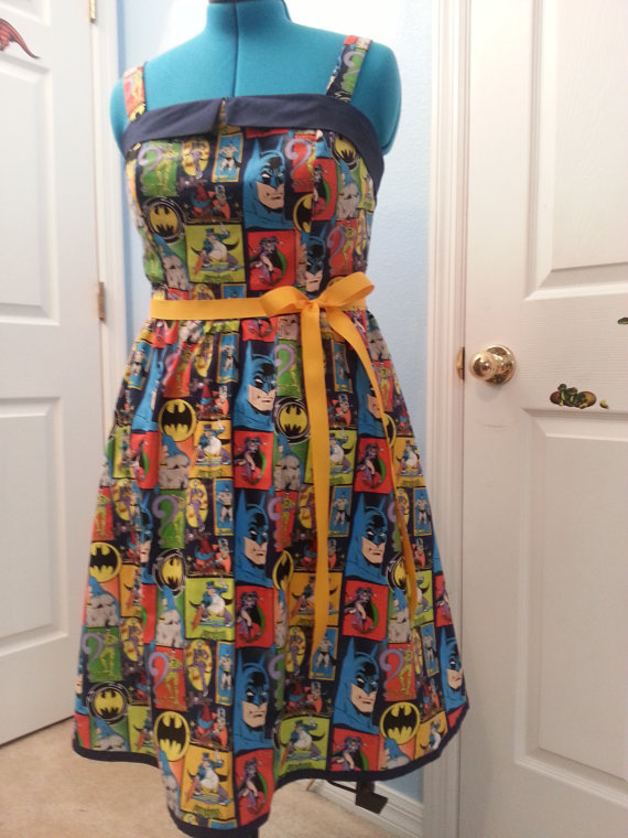 Batman Dress with Pockets by CleverGirlClothing on Etsy