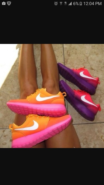 shoes pink purple nike