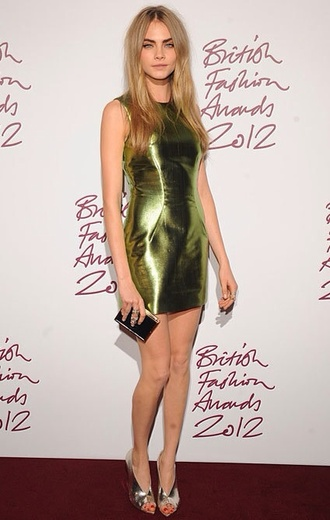 dress cara delevingne metallic cute dress green dress green metallica soft grunge girly grunge fashion haute couture tags tags for help dressshort mini dress gold mint olive green style classy girly
