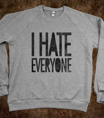 I Hate Everyone (crew neck) - Galaxy Cats - Skreened T-shirts, Organic Shirts, Hoodies, Kids Tees, Baby One-Pieces and Tote Bags Custom T-Shirts, Organic Shirts, Hoodies, Novelty Gifts, Kids Apparel, Baby One-Pieces | Skreened - Ethical Custom Apparel