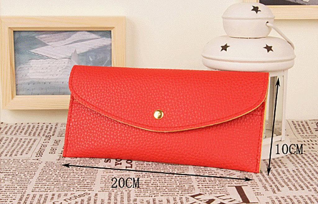 Candy Dark Red Color Card Change Coin Bag Women's Purse Handbag Ladie's Wallet | eBay