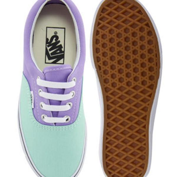shoes vans vans pastel lilac purple pastel goth summer shoes turquoise
