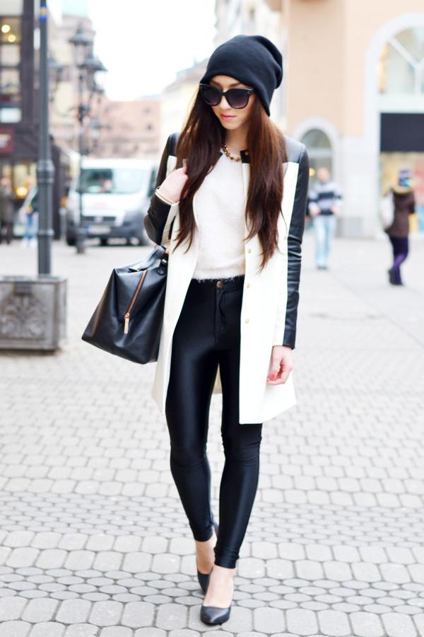 flirting with fashion coat sweater pants shoes bag hat sunglasses