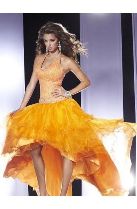 Organza Sequin Sleeveless Prom Dresses