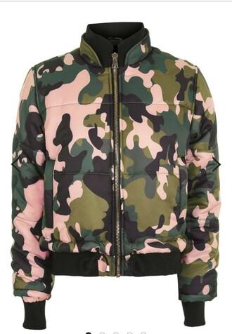 coat camo pink puffer jackets camo jacket